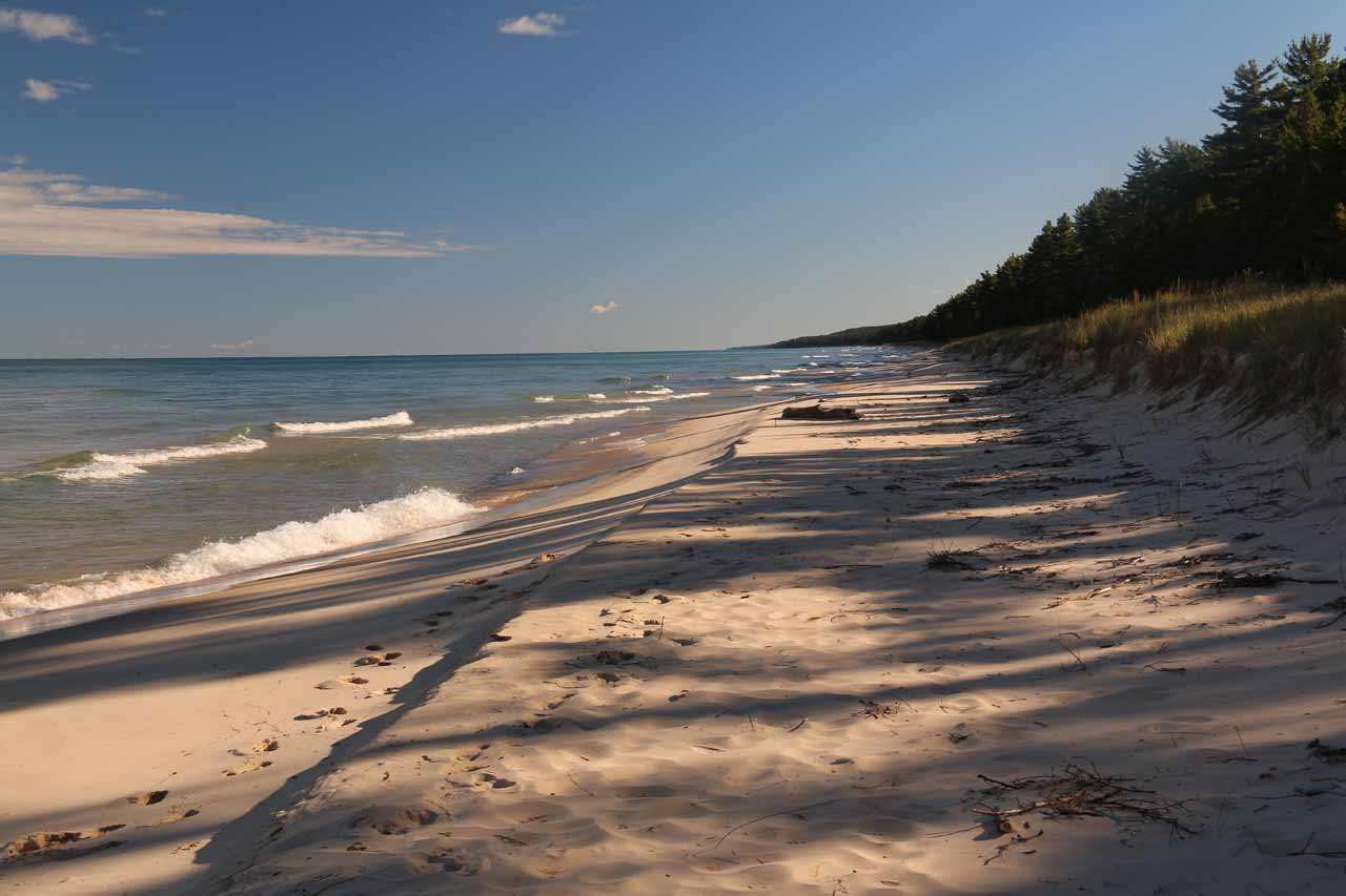 The beach on the shores of Lake Superior