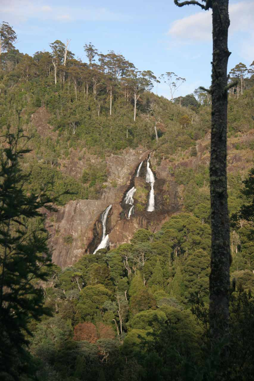 Looking across the gorge towards St Columba Falls from the car park