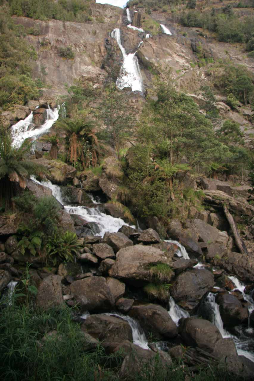 Frontal look at St Columba Falls from the lookout platform