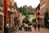 St_Goar_130_06172018 - Looking back along the main throughfare in St Goar towards the Burg Rheinfels looming above