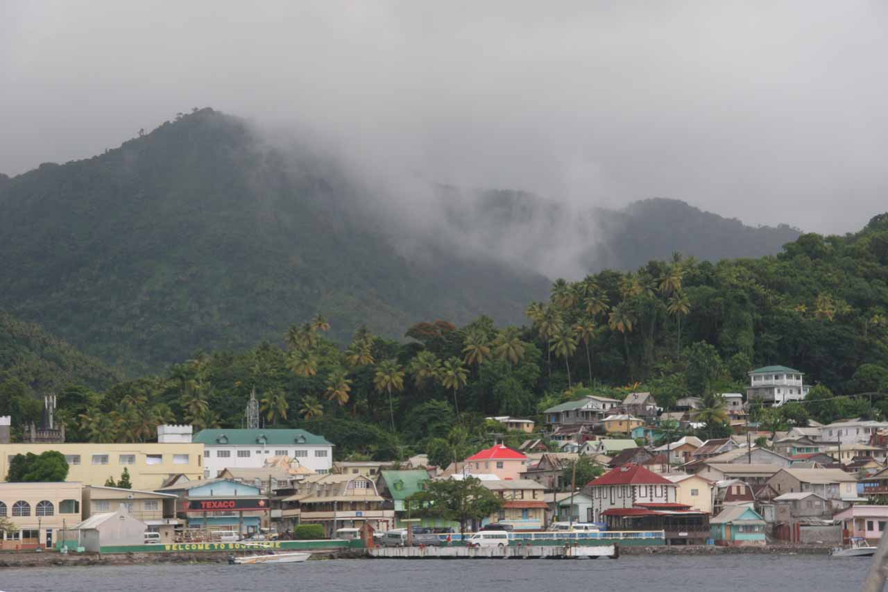Pulling into Soufriere