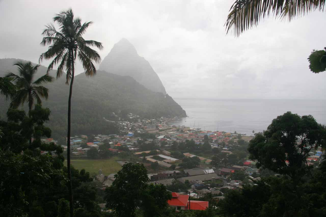 After visiting the falls, we cruised over to this lunch spot with a nice view of Soufriere