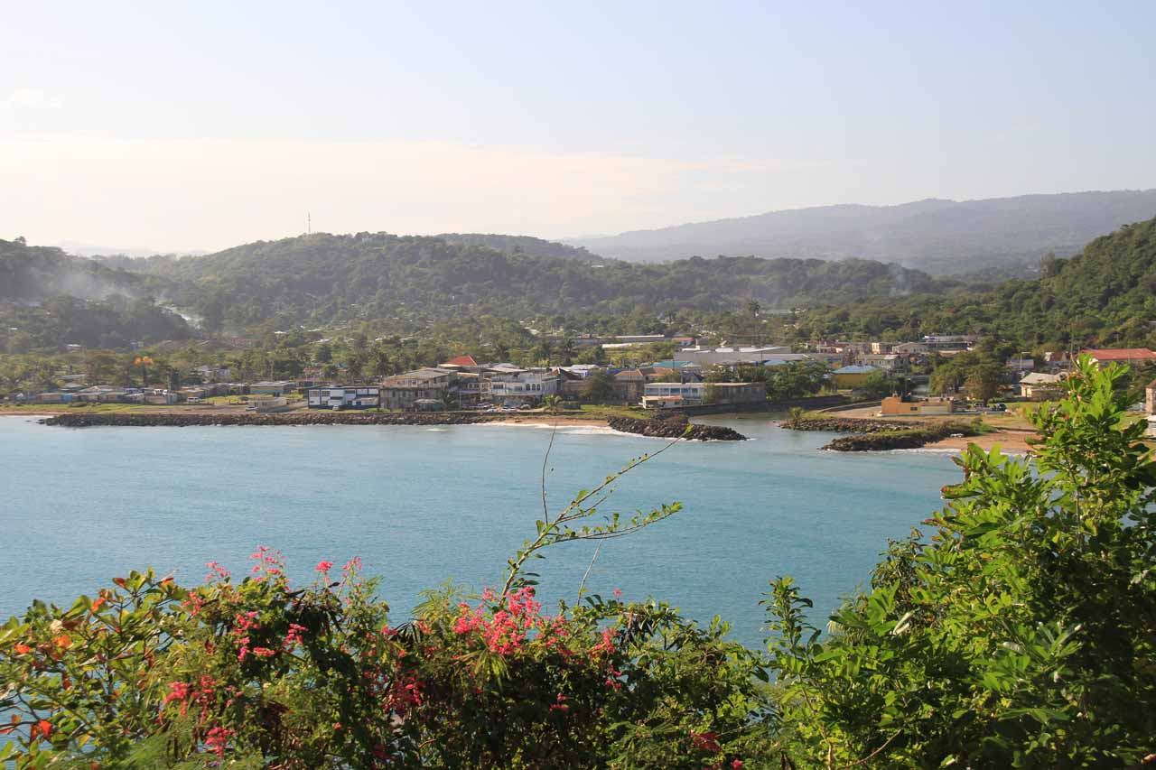 When we were making our way east of Ocho Rios, we got this nice view of the bay by St Mary near Tacky Falls
