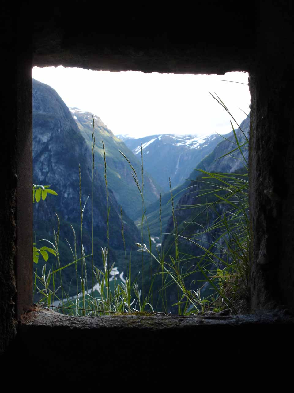 This was the view of through one of the World War II bunkers that was set up here.  This particular bunker was called 'Lorelei'