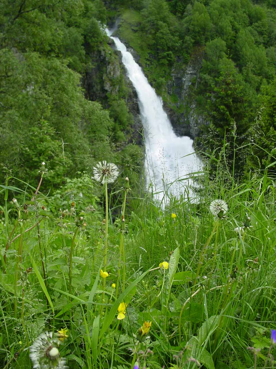 As we descended further down Stalheimskleiva, we started to see the impressive Sivlefossen