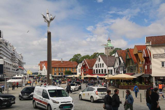Stavanger_003_06202019 - This the busy scene near the harbor in Stavanger. For parking at St Olav, if you see this while driving, then you definitely went too far
