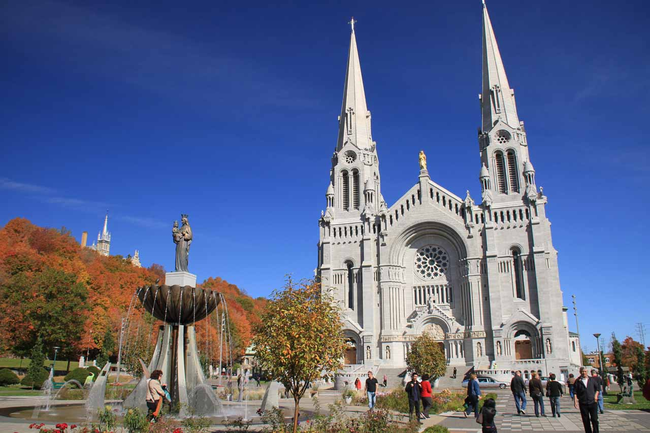 Just west of Beaupre was the beautiful Sanctuary of Sainte-Anne of Beaupre and the beautiful European-style church