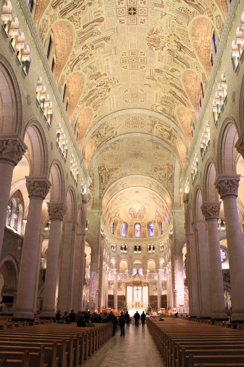 The interior of the Basilica of Sainte-Anne of Beaupre