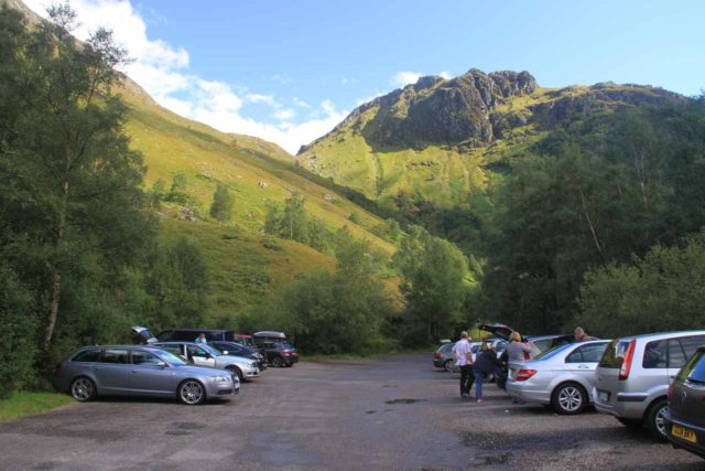 Steall_Falls_001_08282014 - The car park for Steall Falls at the very end of the road in Glen Nevis