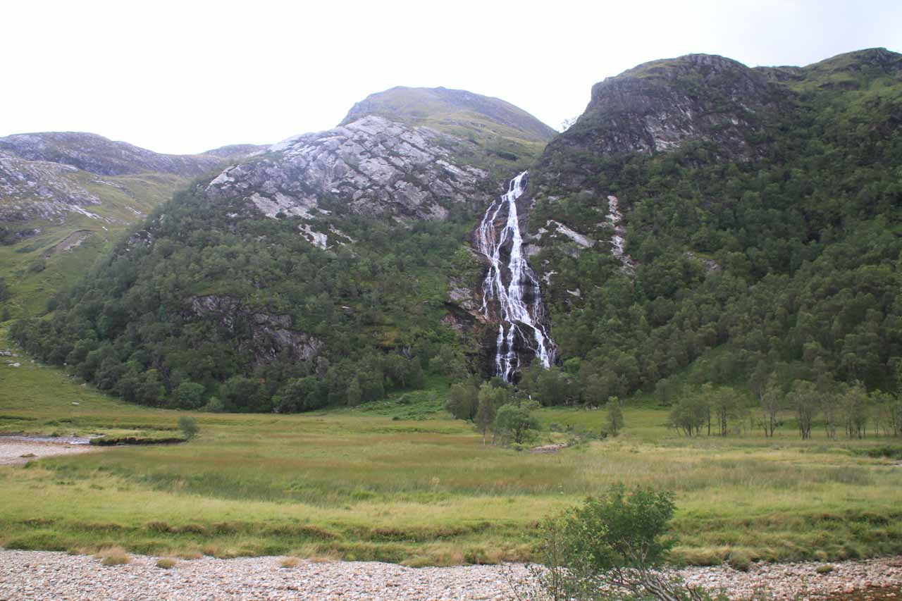 Looking across the Water of Nevis towards Steall Falls