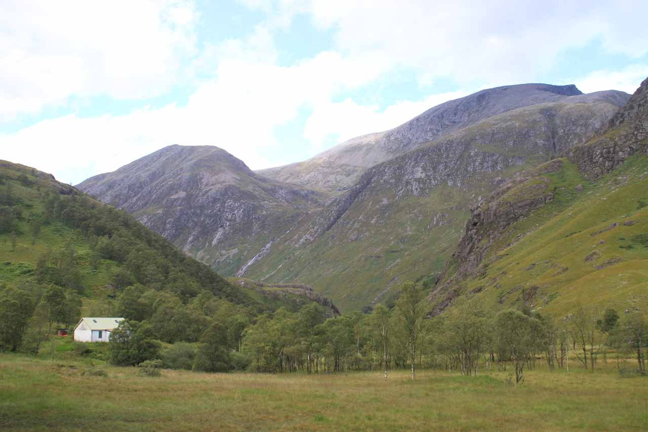 As I was near the base of Steall Falls, I took a look back and wasn't sure if that tall mountain on the topright was Ben Nevis - Britain's tallest