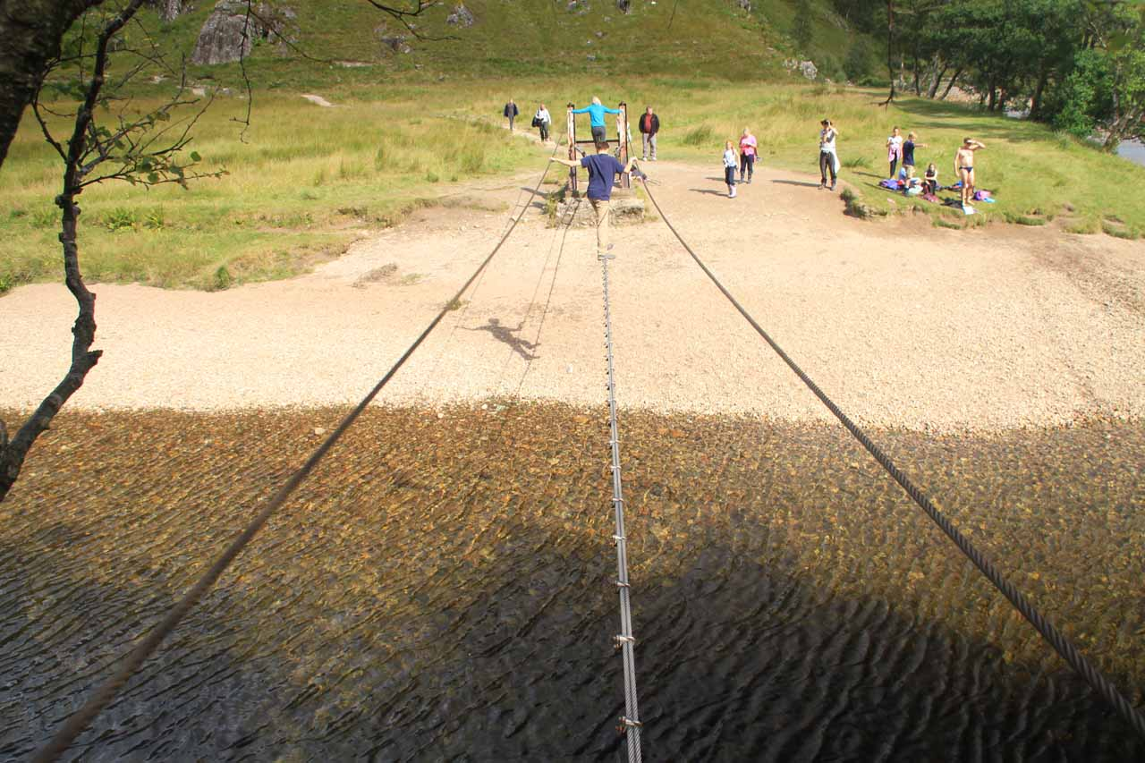 This is what the three-wire bridge looks like when you're on it