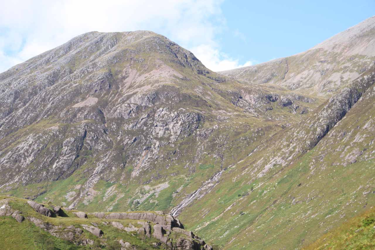 A closer look at that waterslide on the slopes of Ben Nevis that I had seen earlier from the car park