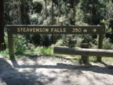 Steavenson_Falls_006_jx_11102006 - Sign pointing the way to Steavenson Falls as seen during our November 2006 visit. The rest of the photos in this gallery took place on that day