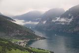 Stegastein_112_07232019 - More zoomed in look over the Aurlandsfjorden towards both Aurland and Flam in the distance while descending from the Stegastein Lookout