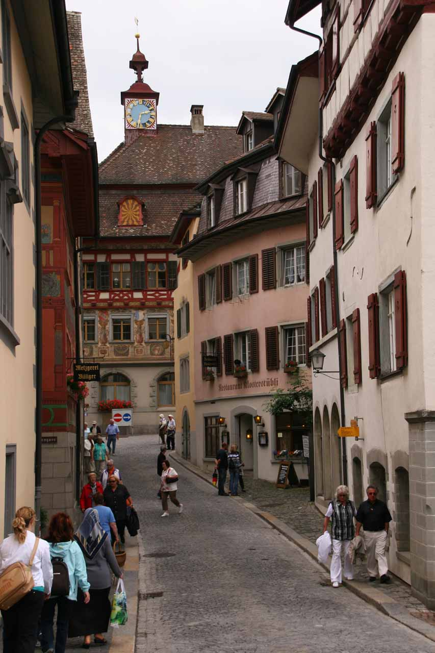 Within one of the narrow side streets of Stein an Rhein
