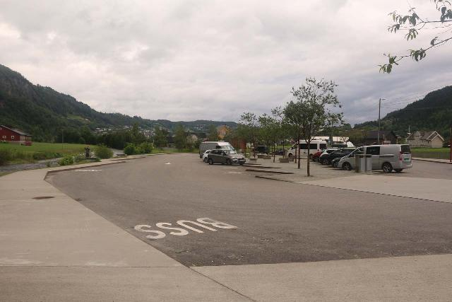 Steindalsfossen_003_06262019 - Looking back at the new and more spacious car park for Steinsdalsfossen as seen in 2019, which definitely wasn't like this back in 2005