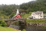 Steindalsfossen_009_06262019 - Approaching the footbridge at Steinsdalsfossen