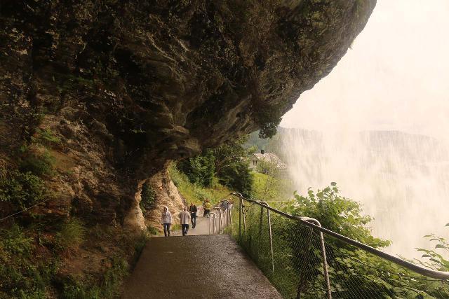 Steindalsfossen_030_06262019 - Walking the wide and paved walkway behind Steinsdalsfossen