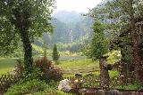 Steirischer_Bodensee_075_07032018 - Looking between some charming infrastructure from the Gasthof Forellen across the Steirischer Bodensee towards the waterfall