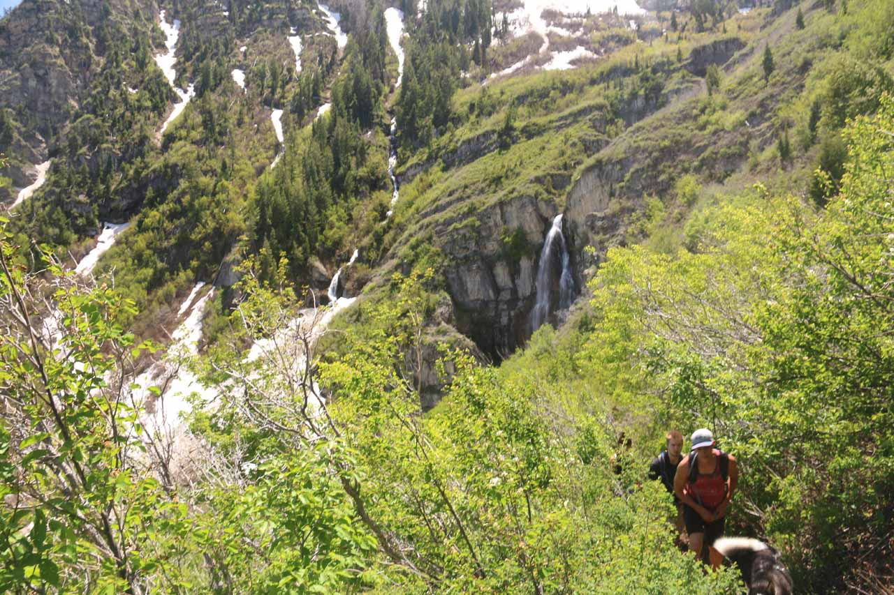 There was still a little further to go in order to get right up to the Stewart Falls
