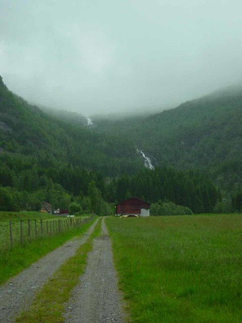 Stigfossen_001_06262005 - Stigfossen and Fjellfossen under some foul weather as seen on our first visit back in June 2005