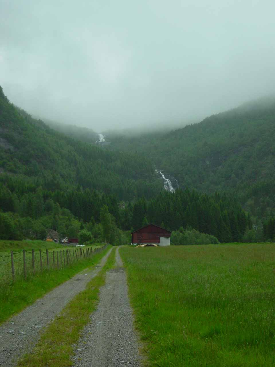 Stigfossen and the barely visible Fjellfossen