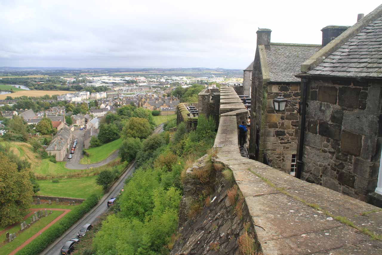 Roughly 59 miles south of Pitlochry was Stirling, which was famous for the Stirling Castle; shown here is a view from the castle walls
