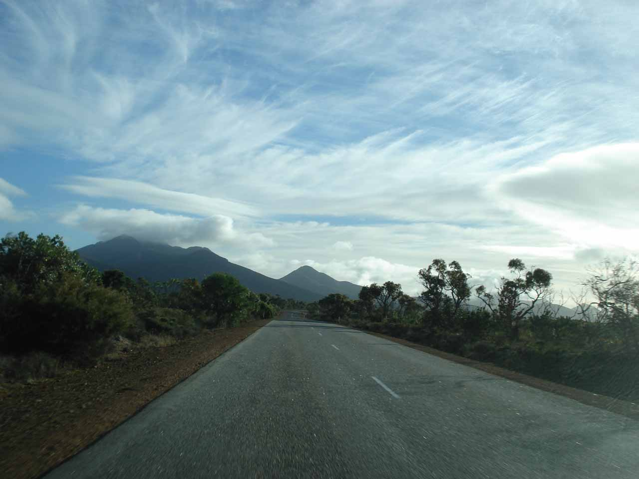 Driving through the Stirling Ranges towards Hyden and the Wave Rock