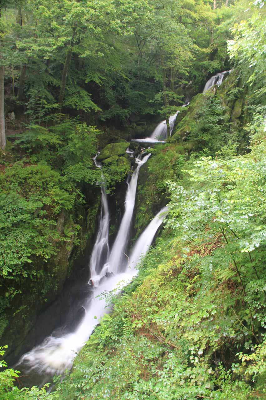 Stock Ghyll Force from the official viewpoint