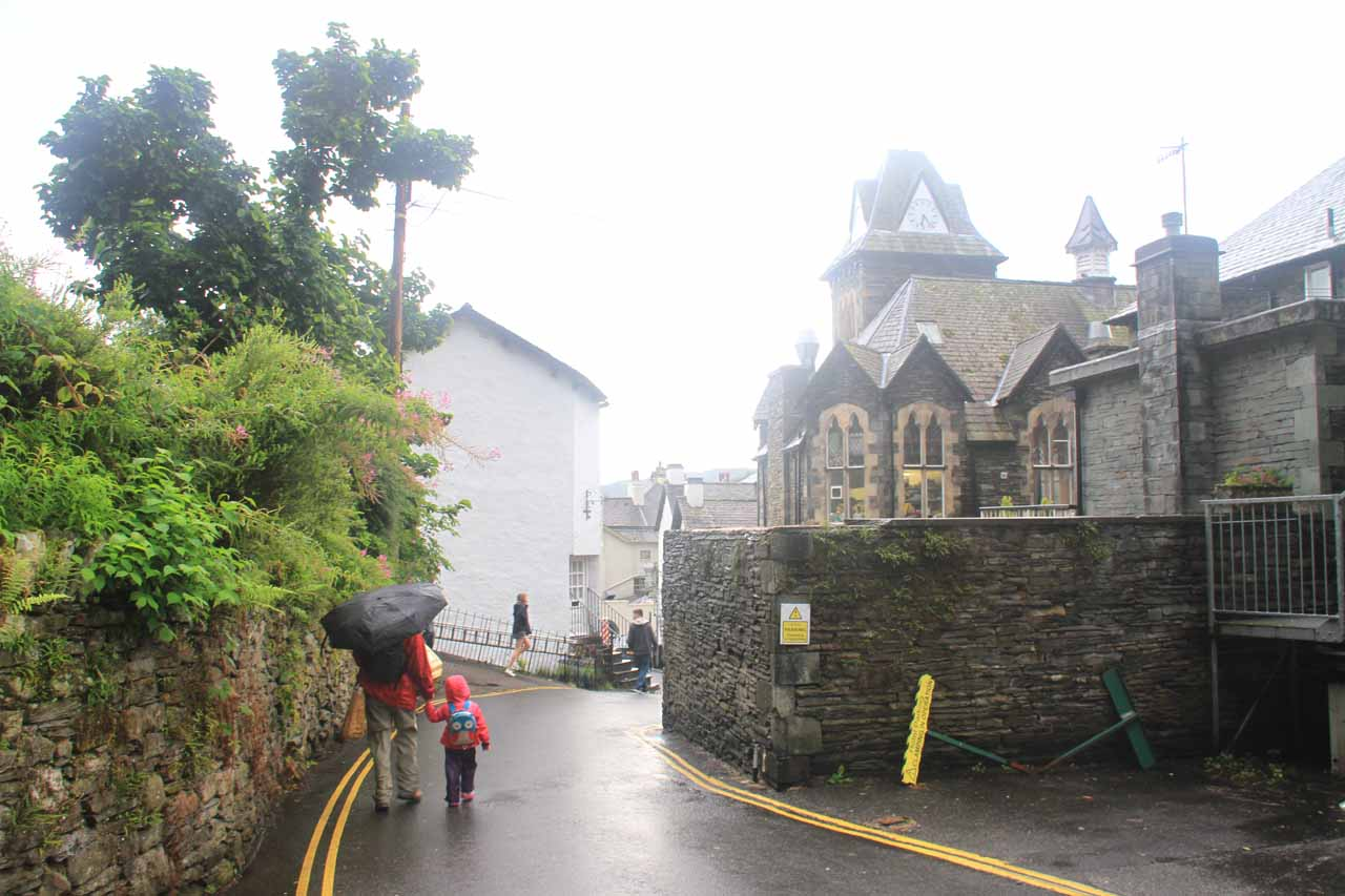Julie and Tahia making it back to the town center of Ambleside