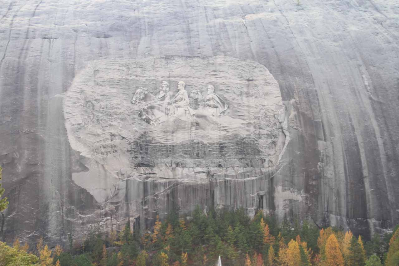 A closer look at Stone Mountain