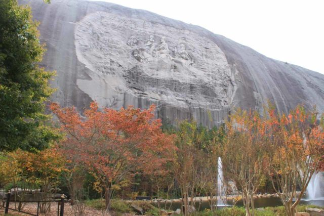 Stone_Mountain_015_20121027 - Roughly a couple of hour's drive to the southwest of Toccoa towards the east of Atlanta was Stone Mountain, which featured this carving honoring the leaders of the Confederacy during the Civil War