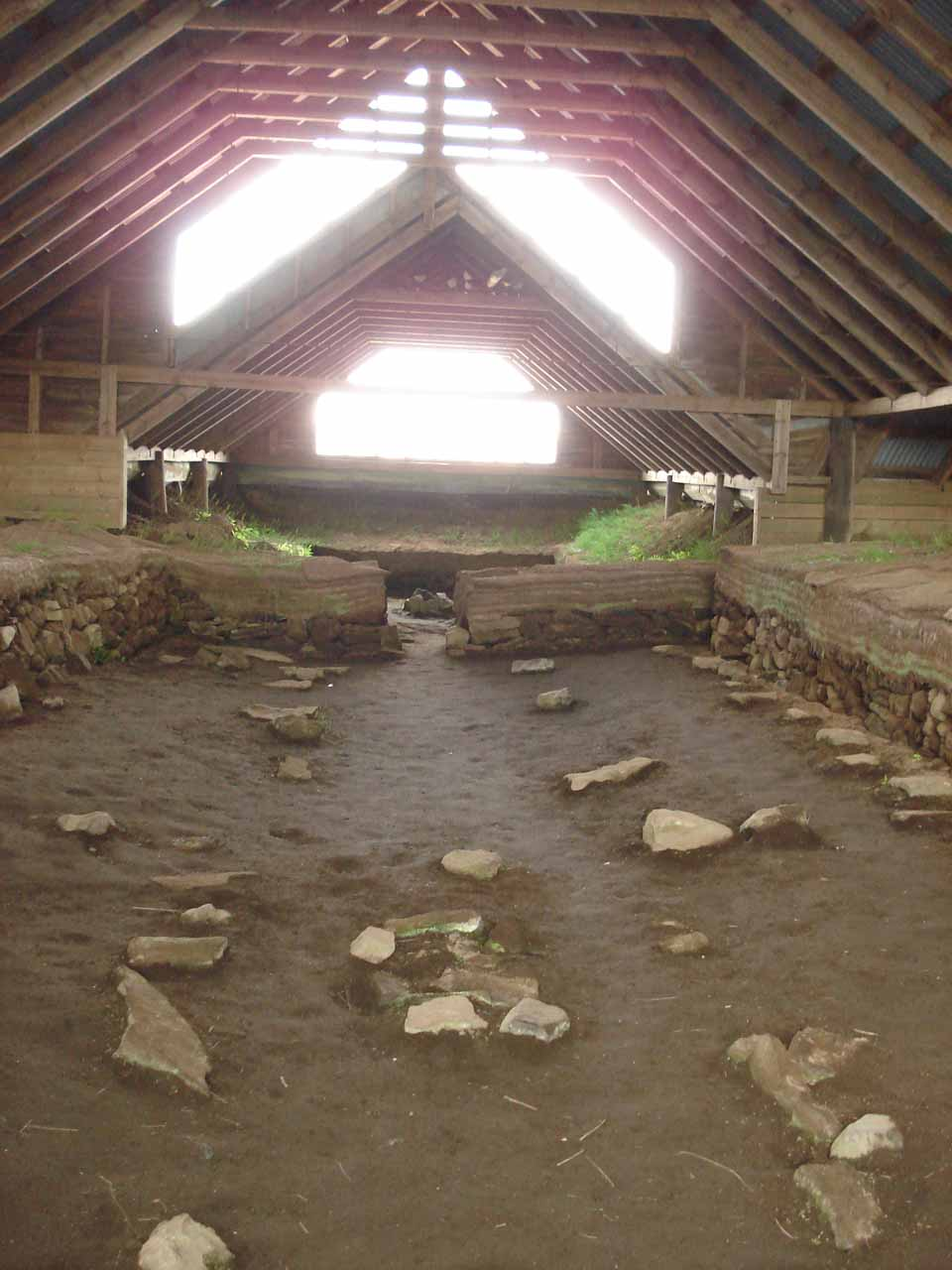 Inside the excavated farm Stöng