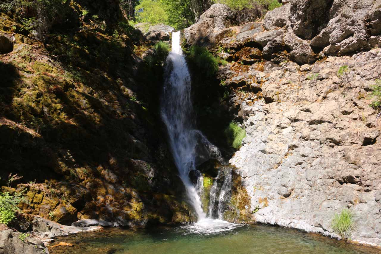 Stony Creek Falls (or Middle Fork Falls), which had to have been one of the more remote waterfalls we've done