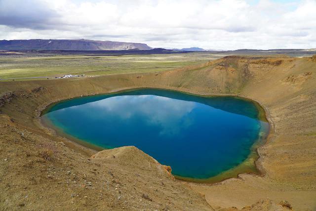 Stora_Viti_051_08132021 - Near Mývatn is the geothermal Krafla area, where we found this beautiful crater lake called Stóra Viti