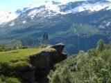 Storsaeterfossen_020_jx_07012005 - Julie on an overhanging rock