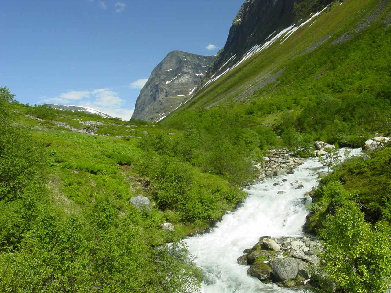 Looking upstream deeper into Vesterås Valley