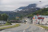 Storslett_001_07072019 - Passing through the familiar town of Storslett with some tall waterfalls looming in the distance