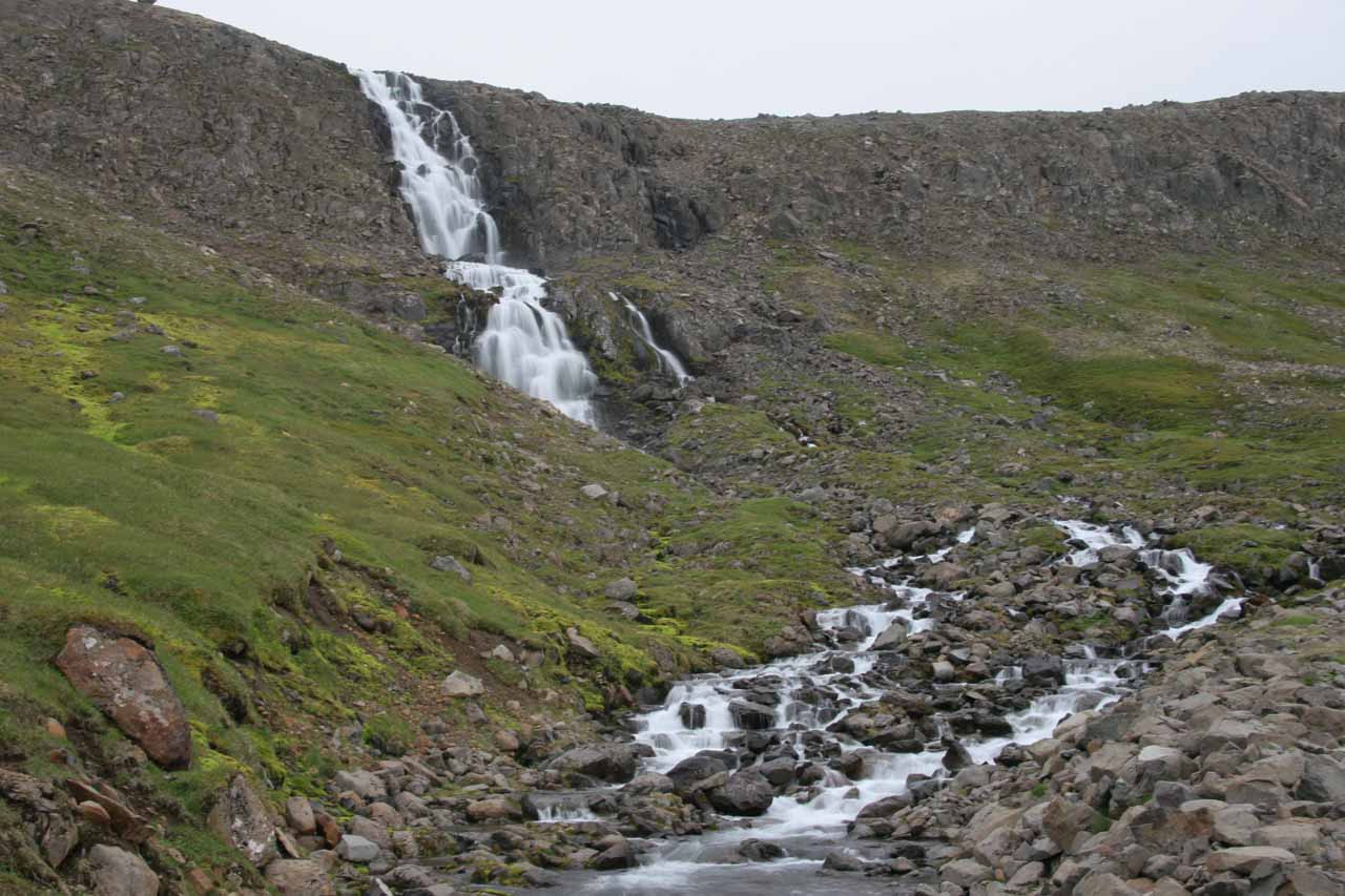 An attractive cascade in one of the fjords before Djupavik on the Strandir Coast
