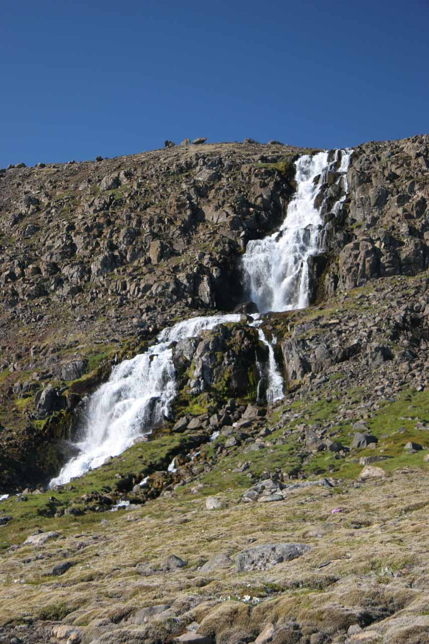 Waterfall on the Strandir Coast