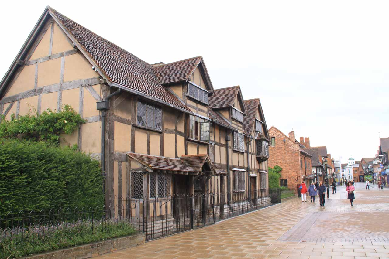 Last look at Shakespeare's Birthplace before heading out late in the afternoon