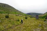 Strutsfoss_035_08112021 - Mom going past some kind of interesting shed along the Strutsfoss Trail