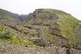 Strutsfoss_099_08112021 - Looking across the Strútsgil Gorge as I still climbed higher on the steep trail to the lookout for Strútsfoss
