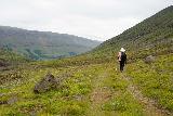 Strutsfoss_216_08112021 - Mom making her way back along Villingadalur after having had her fill of Strútsfoss