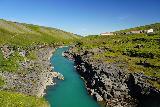 Studlagil_Canyon_012_08102021 - Looking downstream along the Jokulsa from the old steel bridge