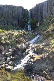 Studlagil_Canyon_055_08102021 - Portrait view of the convenient yet striking Stuðlafoss Waterfall
