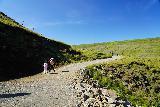 Studlagil_Canyon_057_08102021 - Mom and Tahia continuing beyond the Studlafoss Waterfall