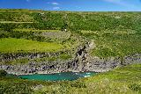 Studlagil_Canyon_103_08102021 - Looking directly across the Jökulsá á Brú River towards a side cascade while still making our way to Stuðlagil Canyon