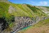 Studlagil_Canyon_122_08102021 - Looking towards more pronounced basalt columns at the start of Studlagil Canyon